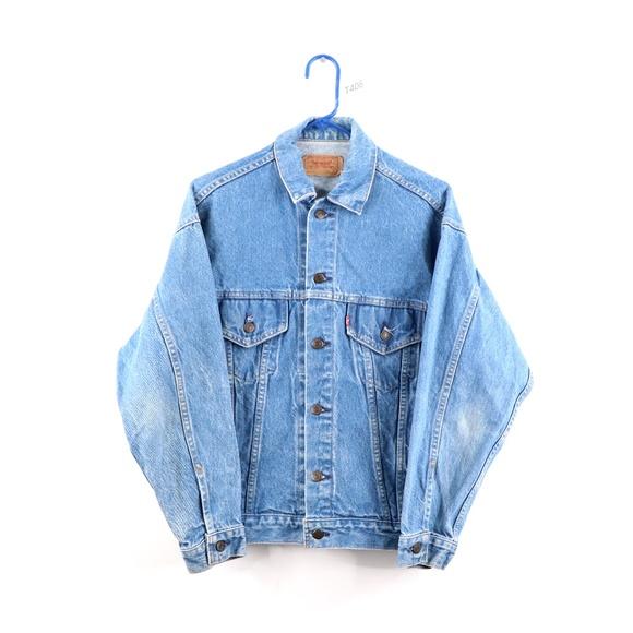 Vintage 80s Levis 70506 0216 Denim Jacket Blue